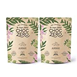 ChocZero's Keto Bark, Milk Chocolate Almonds, No Added Sugar, Low Carb, No Sugar Alcohols, Non-GMO (2 bags, 6 servings each)