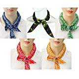 5. Pack of 5, The Elixir Ice Cool Scarf Neck Wrap Headband Bandana Cooling Scarf (Camouflage, Blue, Orange, Red, Green)