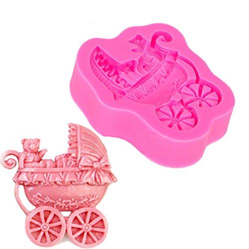 HENGSONG Bär Kinderwagen Silikonform Schokolade Gebäck Süßigkeiten Seife Form Kuchen Dekorieren Werkzeuge DIY Silikon Backen Fondant Formen