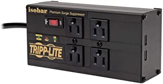 Tripp Lite Isobar 4 Outlet Surge Protector Power Strip with 2 USB Charging Ports, 8ft..