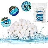 LOMYLM Bolas de filtro para instalaciones arena, 700 g, bolas piscina, bomba filtro, arena acuario, accesorios limpieza repuesto 25 kg (blanco)