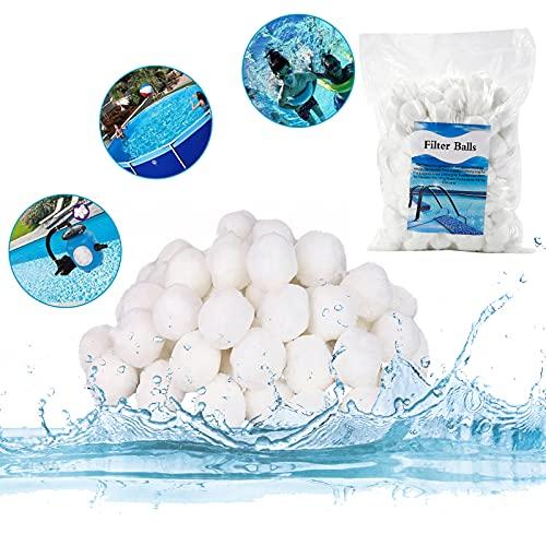 LOMYLM Filterballs für Pool Sandfilteranlagen, 700g Filterbälle für Schwimmbad, Filterpumpe, Aquarium Sandfilter, Poolreinigung Zubehör, Ersetzen 25kg Filtersand (Weißes)