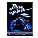 HJZBJZ Blue Velvet Movie Poster 1986 Ölgemälde
