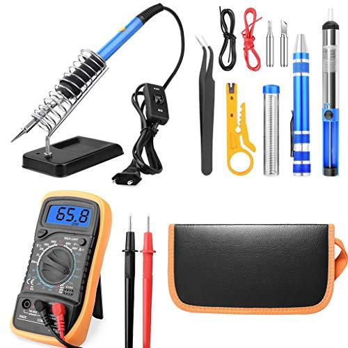 DAXINYANG Conjunto multímetro de Soldador eléctrico de 60 W, Kit de Soldadura...