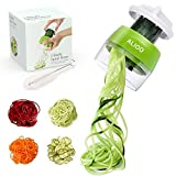 Spiralizer - Handheld Spiralizer Vegetable Slicer, 4 in 1 Veggie Spiral Cutter, Zoodle