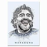 Snadkil Diego Maradona 2020 Diego Maradona Arte Abstracto Diego Maradona 20 x 30 pulgadas Visión sin marco, impresión artística de oficina decoración del hogar, obra de arte, sin marco