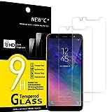 NEW'C 2 Unidades, Protector de Pantalla para Samsung Galaxy A6 Plus (2018), Antiarañazos, Antihuellas, Sin Burbujas, Dureza 9H, 0.33 mm Ultra Transparente, Vidrio Templado Ultra Resistente