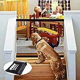 WeyTy Hundebarrieren, Magic Gate Faltbar Tür- und Treppenschutzgitter - Versetzbar Einziehbares...