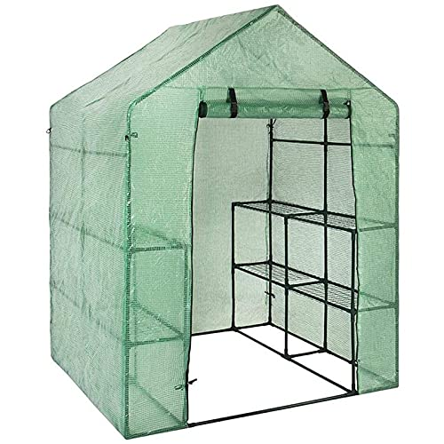 Yuncheng Mini Greenhouse Cover Replacement, Plastic Plant Greenhouse Cover PVC (NO Iron Frame) Portable Tent Replacement Shed for Gardening for Indoor Outdoor,56.2928.7376.77inch