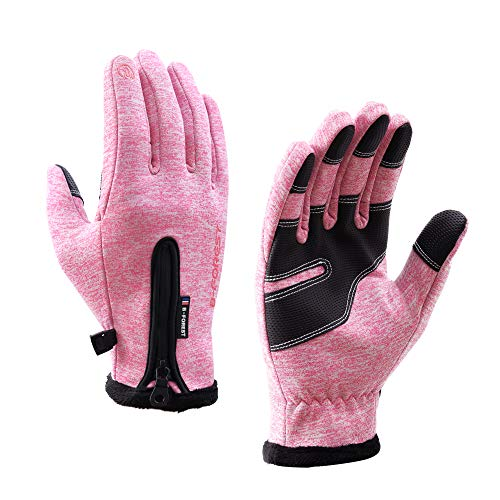 B-Forest Winter Gloves Warm Running Gloves for Men Women, Touch Screen Gloves for Cool Weather for Hiking,Driving,Cycling