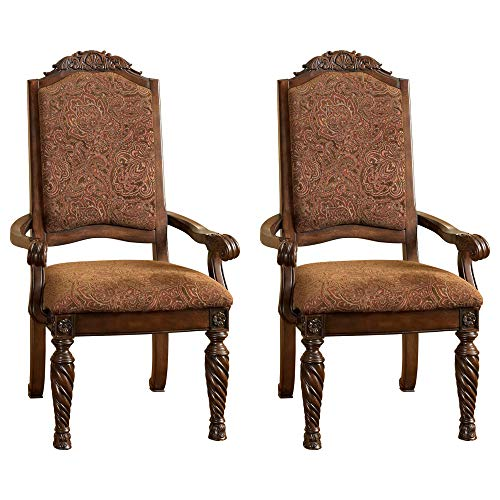 Signature Design by Ashley North Shore Dining Chairs, Arm, Dark Brown