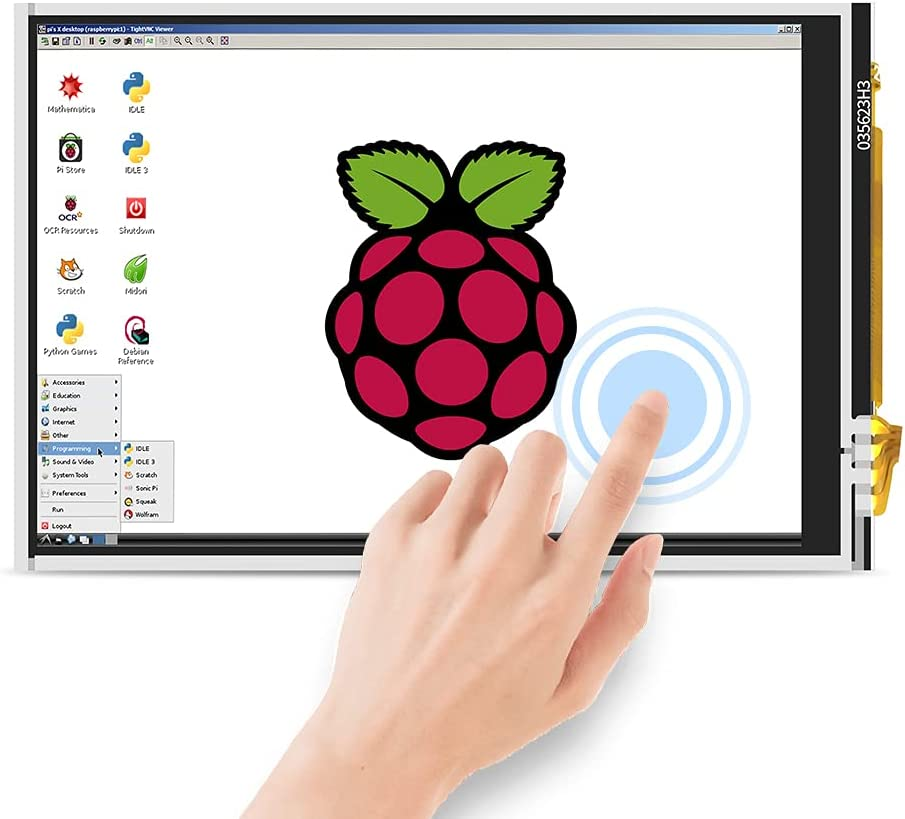 for Raspberry Pi 4 Display 3.5inch LCD Resistive Touchscreen TFT 480x320 Resolution 180MHz High-Speed SPI for All Version of Raspberry Pi Raspberry Pi 4