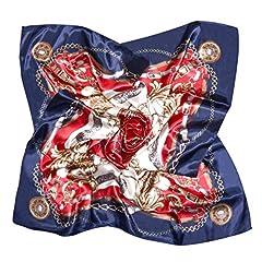 Idea Regalo - VBIGER Sciarpa in Raso Quadrato Sciarpe Foulards Seta di Seta per Donna Sciarpa multiuso, Adatta per Tutto l'Anno