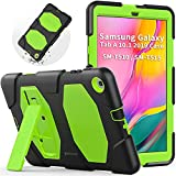 Funda para Samsung Tab A 10.1 (SM-T510/SM-T515), SEYMAC de Cuerpo Completo Resistente con función Atril Integrado para Galaxy Tab de 10,1 Pulgadas 2019 (Verde/Negro)