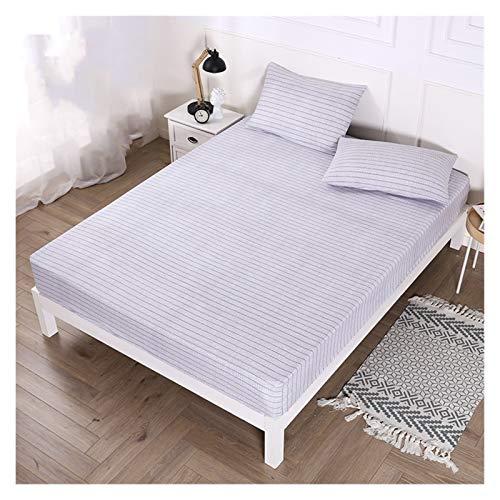 RHBLHQ Sábana Protector de colchón Impreso Cubierta de colchón Impermeable for Dormitorio Suave Ropa de Cama/Cama Doble (Color : Color 4, Size : US Queen 60X80inch)
