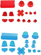 Baoblaze 2 Set Handdle Grip Cap Buttons Easy To Install For Sony PS4 Gamepad Console Blue+Red