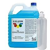 gel hidroalcoholico manos 5 litros desinfectante de manos liquido antiseptico antibacteriano jabon antiséptico a base de alcohol ideal para dispensadores/incluye bote de 500ml para rellenado