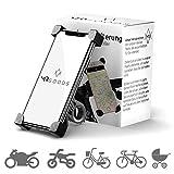 MR Goods Smartphone Halterung Fahrrad – Handyhalter für Fahrräder und Motorräder – Handyhalterung am Lenker anbringen und los Fahren