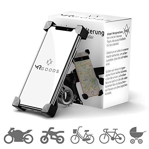 MR Goods® EINFÜHRUNGSPREIS Handyhalterung Fahrrad für dein Smartphone - Fahrradhalterung für Handy bis 7 Zoll an deinem Lenker - Handyhalter Universal für iPhone Samsung Huawei Honor Nokia Sony Xiaomi