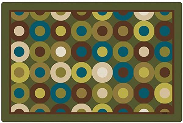 Carpets For Kids 13724 Calming Circles Nature S Colors Kids Rug Rug Size 4 X 6