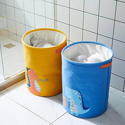 N-B Household Cartoon Fabric Dirty Clothes Basket Drawstring Drawstring Large Clothes Dirty Clothes Storage Basket Clothes Basket Storage Laundry Basket