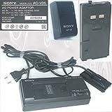 Original-Sony AC-V35 Power Adaptor Adapter Handycam Camcorder Netzteil Ladegerät Dockingstation AC in~110-240V,50/60Hz,20W,DC-Out 7.5V, 1.6A(VTR);10V 1.3A(BATT.) + Sony-Battery-Pack Model NP-66, 6V,1400mAh,NiCd, [Nr. 409084, Akku NP66]