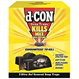 d-CON Reusable Ultra Set Covered Mouse Snap Trap, 2 Traps