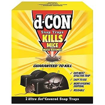 d-CON Reusable Ultra Set Covered Mouse Snap Trap 2 Traps