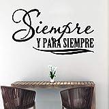YuanMinglu Texte Espagnol créatif Papier Peint décoration de la Maison Autocollant de Vinyle décoration de Chambre 64x34cm
