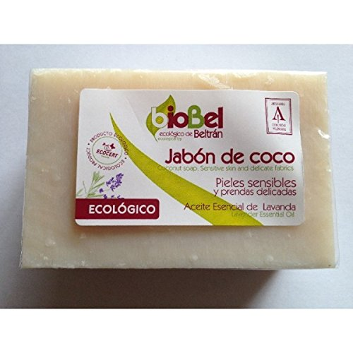 BioBel Jabón Pastilla Coco Eco - 4 Paquetes de 240 gr -...