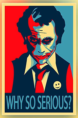 Why so serious The Joker Poster 12 x 12 inches Poster Serene collections