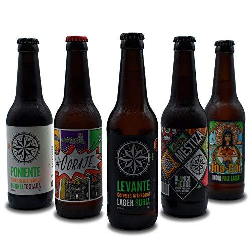Cerveza artesanal Blanca y Verde. Pack degustación 12 unid. de 33 cl. Artesanal 100% natural.
