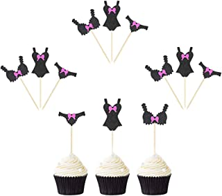 12 Pack Funny Single Sexy Underwear Cupcake Toppers Donut Decor for Adult Party