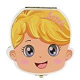 Ularma Colorido Caja de almacenaje de madera guardar los dientes de leche para niños chica (Inglés)