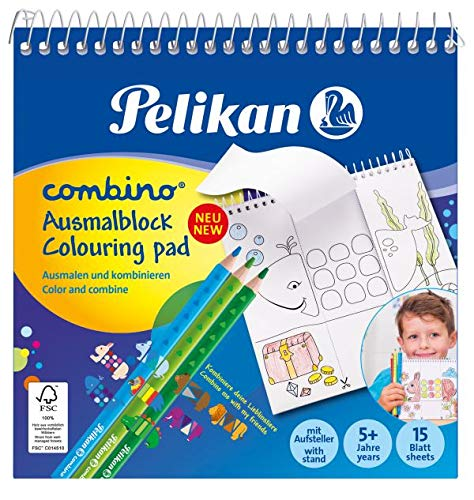 Pelikan 811231 Malblock Combino (mit Tiermotiven, 15x15 cm) 1 Stück