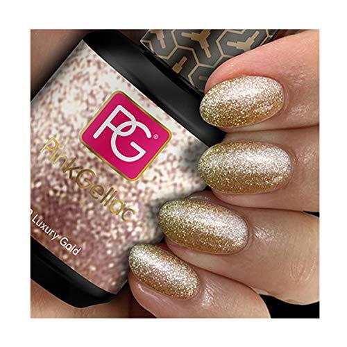 Pink Gellac 130 Luxury Gold UV Nagellack. Professionelle Gel Nagellack shellac für mindestens 14 Tage perfekt glänzende Nägel
