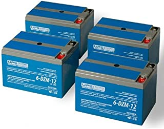 48V 12Ah eBike Battery Kit - (4) 12V 12Ah - 6-DZM-12 - Deep Cycle Mobility Batteries by UPSBatteryCenter