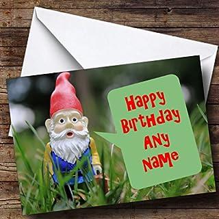 Garden Gnome Personalised Birthday Card