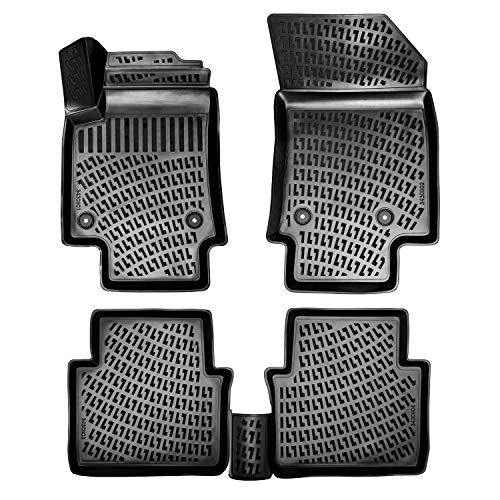 Rizline 3D Gummimatten Auto Matten Fussmatten kompatibel mit VW Passat B8 ab 2014 passgenaue mit hohem Rand c.a 5 cm