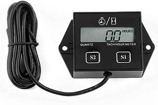 Fighting5 Digitales Tach Stundenzähler Tachometer Messgerät induktiv für Motorrad Motor Wasserdichtes Digital Zusatzinstrument
