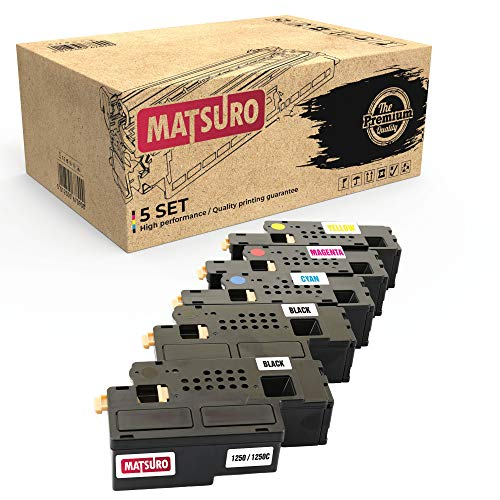 Matsuro Original | Compatible Toner cartridge Replacement for DELL 1250 1250C (1 SET + 1 BK)