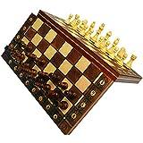Juego de ajedrez de madera, juego de ajedrez 3 en 1 Juego de ajedrez de madera, damas de backgammon para viajes en interiores, caja adicional Ajedrez de madera, despierta tu cerebro, ejercita tu men