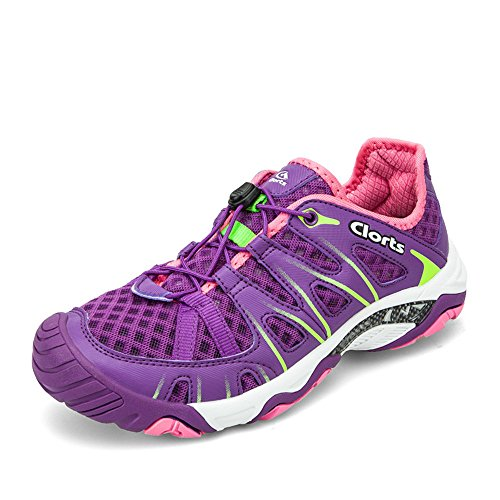 Clorts Women's Water Shoes Lightweight Quick Drying Hiking Sandal Kayaking Trekking Walking 3H025D US6.5 Deep Purple