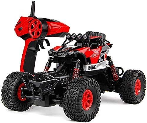 RC Ferngesteuertes Auto für Kinder 4WD High Speed Monstertruck 1 14 Grün mit Allrad 4WD riesig mit 2,4 GHz Ferngesteuertes Auto AkkuSpritzwassergeschützt Fast unzerst ar,rot