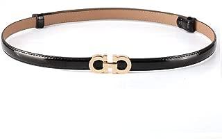 Women'S Fashion Belt Leather Thin Belt Casual Buckle Paint Belt