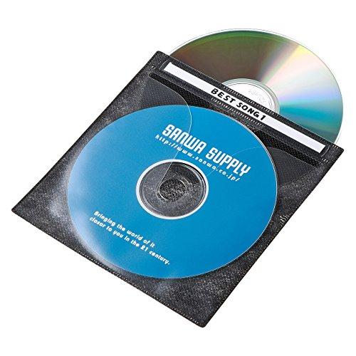 サンワサプライ DVD・CD不織布ケース(ブラック) 100枚 FCD-FN100BKN