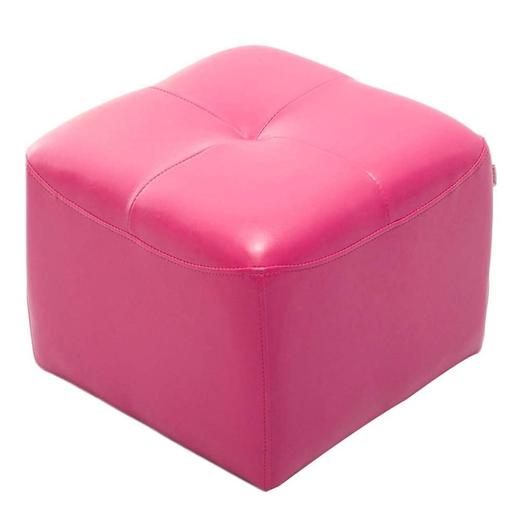 包帯不誠実着替えるCAIJUN オットマン 足置き フットスツール PUファブリック 防水 耐摩耗性 掃除が簡単 ミュート 耐スリップ 余暇 単純な、 6色 (色 : ピンク, サイズ さいず : 42x42x34cm)