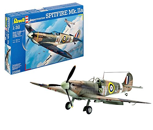 Revell Germany British Wwii Supermarine Spitfire Mk Iia Fighter Model Kit 1/32