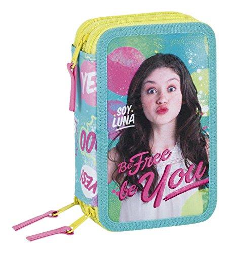 Soy Luna Enjoy Love Astuccio 3 zip Triplo Accessoriato scuola