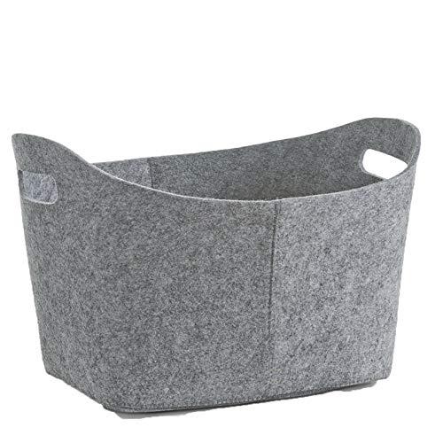 Stonebroo Felt Firewood Basket, Foldable Firewood Storage Holder Bag, for Wood, Magazine, Toy, 52 x 29 x 39 cm (L x W x H), Grey LMZ02G